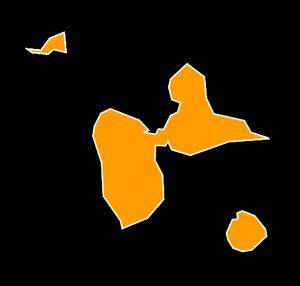 Carte Guadeloupe Noir Et Blanc.Regionelles Guadeloupe