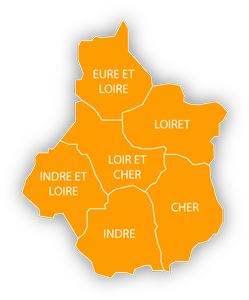 carte région Centre